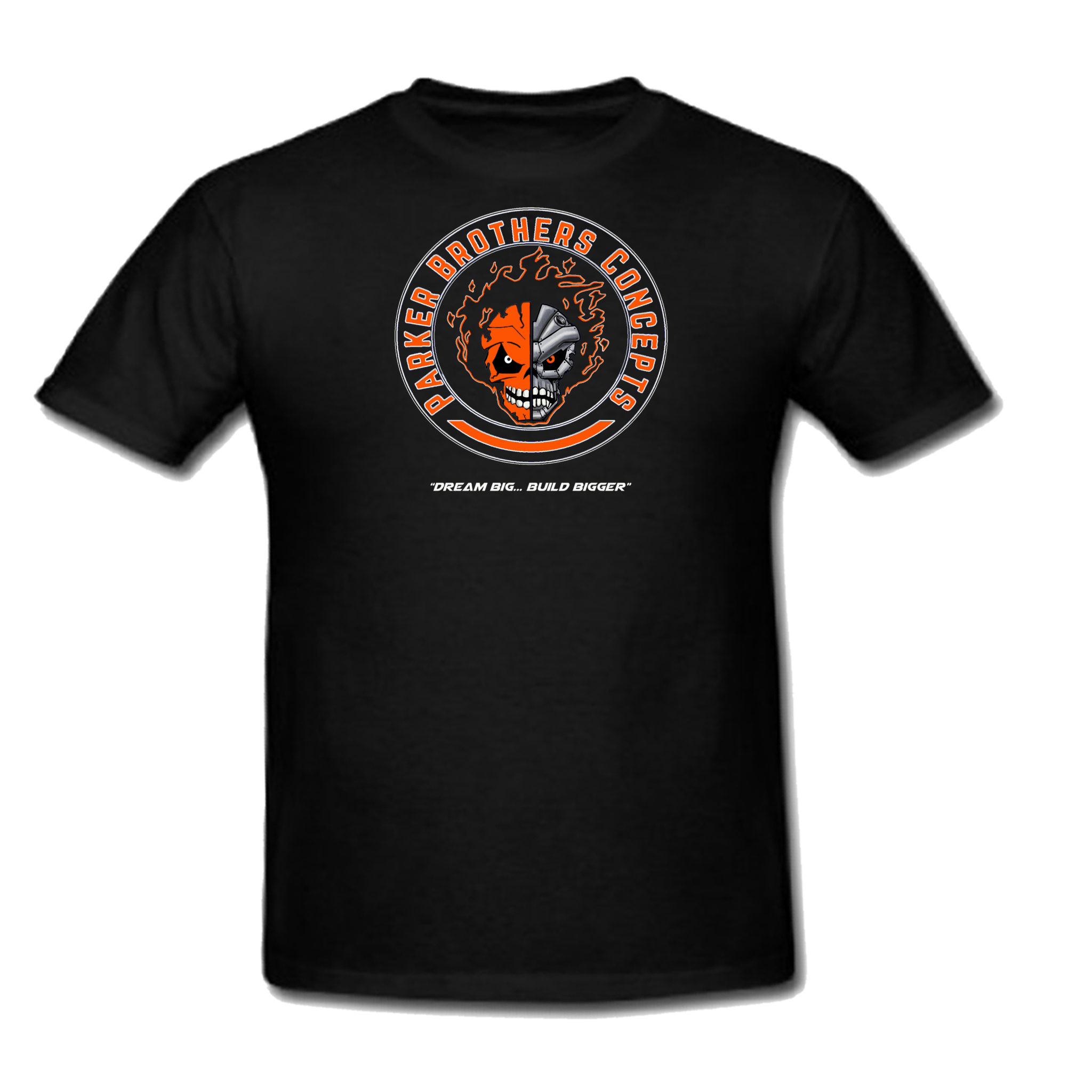 mens black orange logo