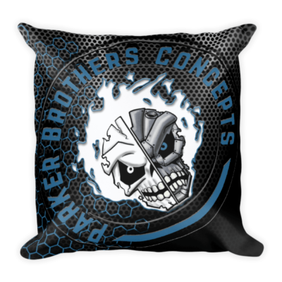 Blue Logo Square Pillow