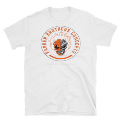Mens T-Shirt – Orange Skulls