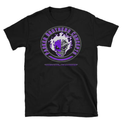 Mens T-Shirt – Purple Skulls
