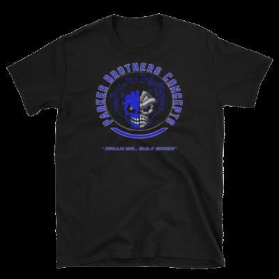 Mens T-Shirt – Blue Skulls