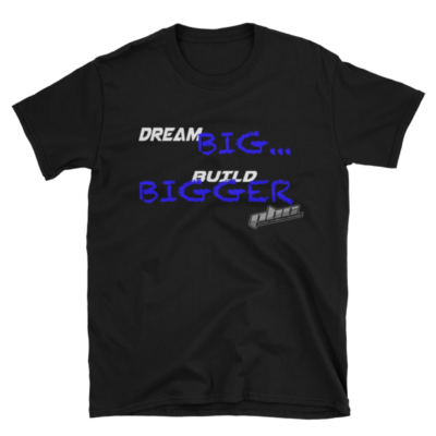 Dream Big Chalk Blue Mens T-Shirt