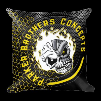 Square Pillow w/ Classic PBC Logo in Yellow